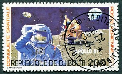 DJIBOUTI 1980 200f SG788 used NG Conquest of Space AIRMAIL STAMP #W29