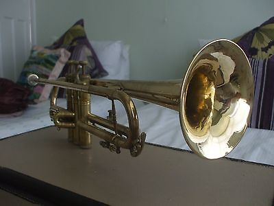 Trumpet  mark Foreign on bell, believed made in France/Germany + Mp/Case/ Mutes