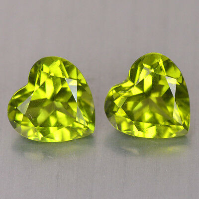 2.650Ct SYMBOL OF LOVE COLLECTION!PAKISTAN GREEN NATURAL PERIDOT HEART GEMSTONES