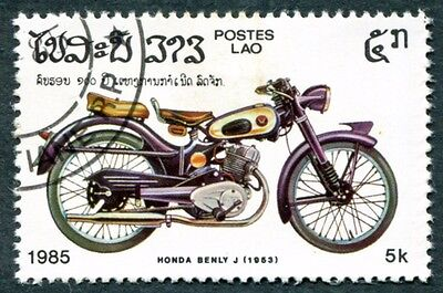 LAOS 1985 5k SG812 used NG Motor Cycle Centenary Honda Benly J 1953 #W30