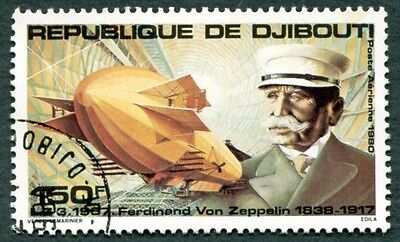 DJIBOUTI 1980 150f SG798 used NG First Zeppelin Flight Anniv AIRMAIL #W29
