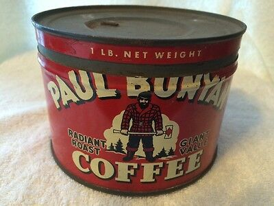 1 Pound Paul Bunyan Coffee Can With Cover