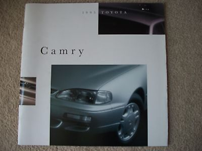 1995 TOYOTA CAMRY SALES BROCHURE (23-Pages, Some foldout) Sedan, Coupe, Wagons