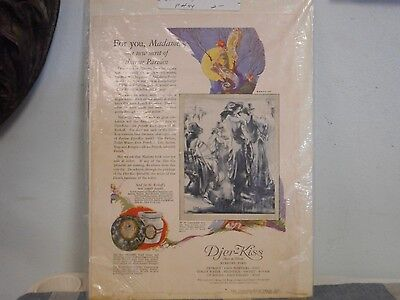 Djer-Kiss Advertisement 1923 Cold Cream Fairies Pixies Color Page