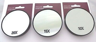 Magnifying Suction Handbag Make Up Vanity Close Up Mirror 10 or 15 or 20 Mag