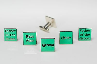 Mens Jade Wedding Cufflinks - Groom Best Man Usher Father Of Bride/Groom  (W5)