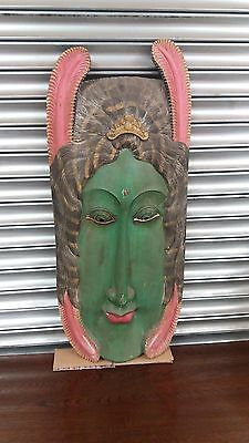 Large Reproduction Indonesian Decorative Wooden Wall Mask/Wall Art-98 x 45 cm
