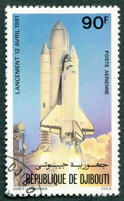 DJIBOUTI 1981 90f SG824 used NG Space Shuttle AIRMAIL STAMP #W29