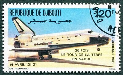 DJIBOUTI 1981 120f SG825 used NG Space Shuttle AIRMAIL STAMP a #W29