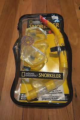 National Geographic Yellow Snorkel & Mask Set