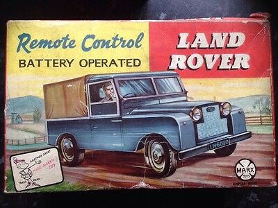 Vintage Marx Toys Land Rover, Battery Operated Remote Control.