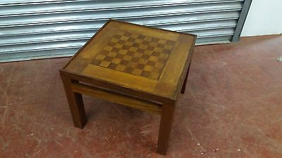 Vintage Hand Made Mahogany Chess Table With Removable Top