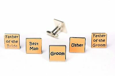 Mens Peach Wedding Cufflinks - Groom Best Man Usher Father Of Bride/Groom  (W7)