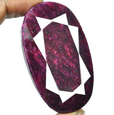 Large RUBY Red Oval Cut Faceted 510ct 100gm 64*39*16mm - Joy Power Integrity R73