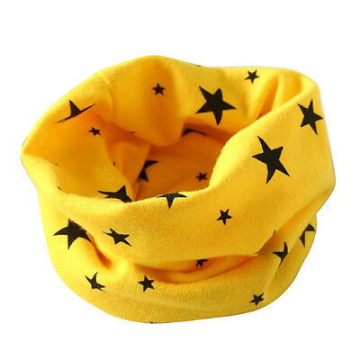 Boys Girls Collar Scarf Cotton O-Ring Neck Scarves (yellow) M5U1