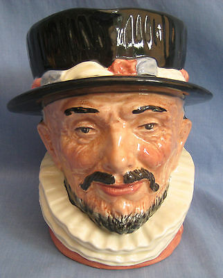 Royal Doulton Jug BEEFEATER D6206 - LARGE SIZE - EXC COND