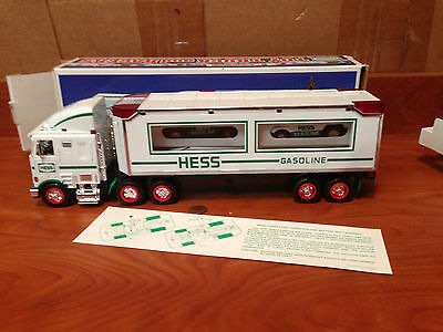 N2-57 Hess Gasoline 1997 Toy Truck And Racers Racecars NEW IN BOX Rare!!