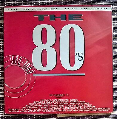The Album of the Decade The 80's 2x Vinyl Record Pop Compilation 1989 EMTVD 48