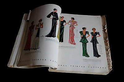 McCall Vintage Printed Patterns Catalogue 1930-1940 RARE 636 illustated pages