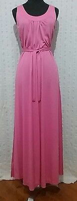 Original retro pink 60's maxi dress. Sz 10
