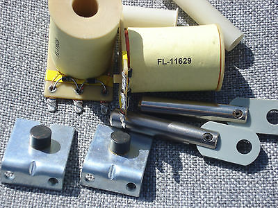 2 Williams Flipper Coil FL-11629, Sleeve, Stop Bracket, Plunger & Link Assembly