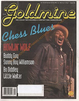 GOLDMINE Record Newsmagazine April 16 1993-Chess Records Blues, Howlin' Wolf
