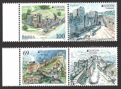 SERBIA 2017 - EUROPA CEPT - Castles - 2017 with vignette