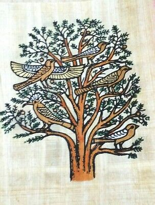 Original Egyptian Papyrus, Egyptian Tree, Handmade Painting 12 x 16 Cm