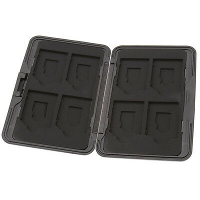 8 x SD Micro Memory Card Storage Case Holder Hard Carrying Box Black Aluminum 0D