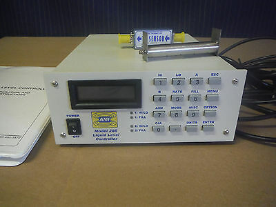 AMI 286 Liquid Level Controller With Sensor And Valve Cryogen Monitor