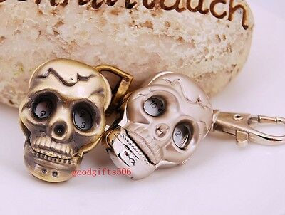 Lovely Skull Punk Boys girls Students Kids lady Women Key Ring watch gift DK10