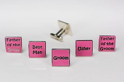 Mens Dusty Pink Wedding Cufflinks  Groom Best Man Usher Father Of Bride/Groom W9