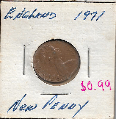 1971 Great Britain New Penny