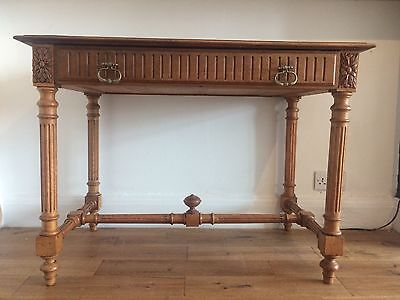 Vintage walnut french writing desk table antique