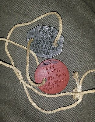 "WW2 Polish Soldier ""Tobruk Rat"" - dog tags and the Africa Star medal"