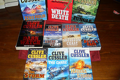 Nice Bundle of Adventure Novels   by   CLIVE CUSSLER   free s/h CAN