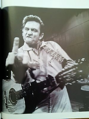 Johnny Cash 1969 San Quentin Prison Single Page Image from Music Magazine