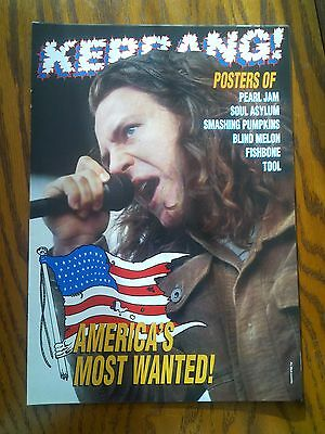 Americas Most Wanted Pull Out Mag Pearl Jam Smashing Pumpkins TOOL Posters