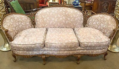 Antique Settee Couch Pink