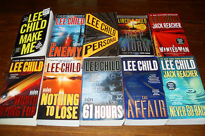 Nice Bundle of REACHER NOVELS by LEE CHILD plus    free s/h CAN