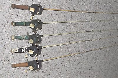 5 Zebco 77 Rod And Reel Combos