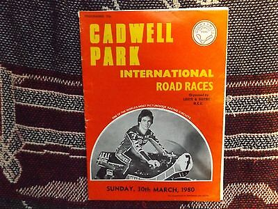 1980 Cadwell Park Programme 30/3/80 - International Road Races - Barry Sheene