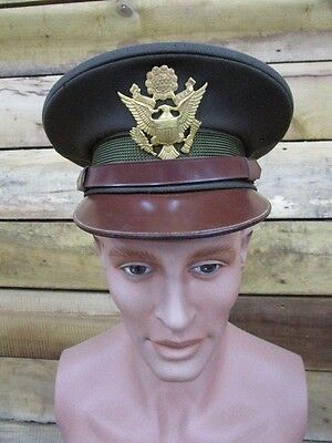 WWII US Army Air Force Officers Visor Cap ~ SUPER HIGH PEAK!!! (08)