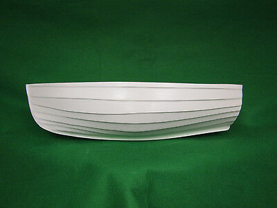 Fibreglass model boat hull   Rowing boat / tender sailboat 18 inch Dinghy