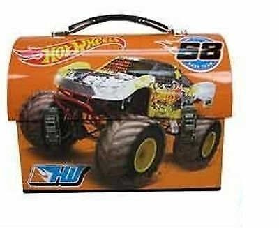 """Hot Wheels Dome Carry All Tin Stationery Lunch Box - """"Wreck Ya Later"""""""