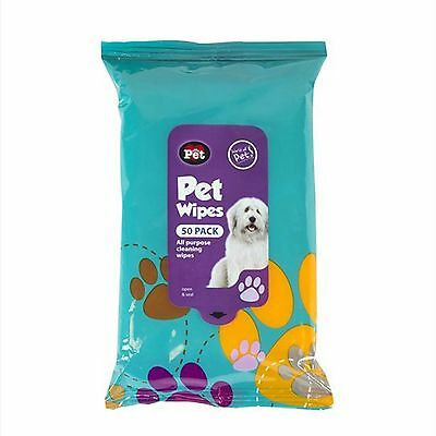 50 Pack Pet Hygiene Wipes Dog Clean Ear Paw Body Grooming Doggy Head Litter New
