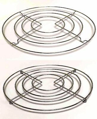 2PC Chrome Round Trivet Pot Saucepan Stand Cooling Rack Baking Cake Table 20CM