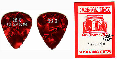 Guitar Pick - Eric Clapton - 2010 Real Tour Guitar Pick! Red & Backstage Pass