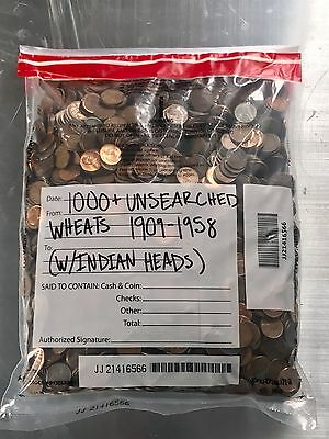 1000 Lincoln Wheat Penny Bags Old Small Cents Set Money Hoard Lot Estate Sale
