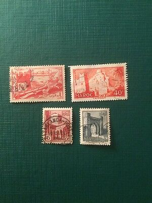 Morocco Maroc Postage Stamps Castles
